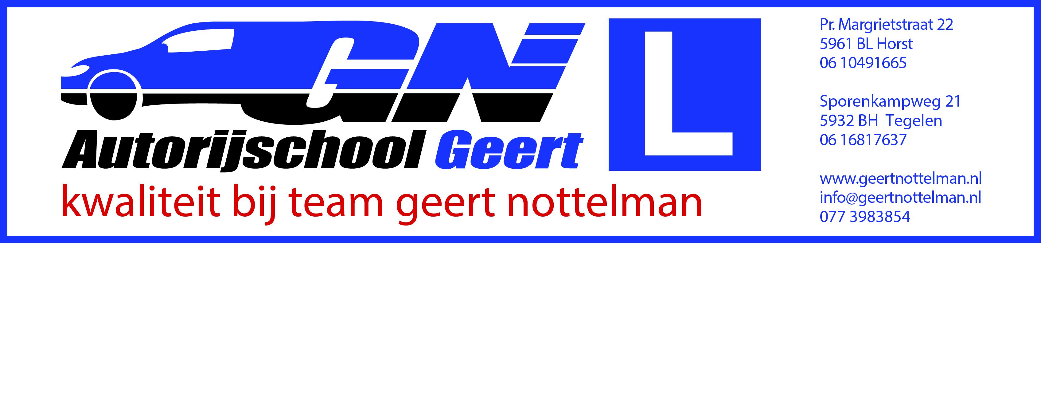 Autorijschool Geert 285 x 65 cm